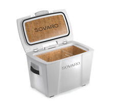 Sovaro 45 Quart Hard Sided Luxury Cooler - White with Silver Accents - SVRHSC45W