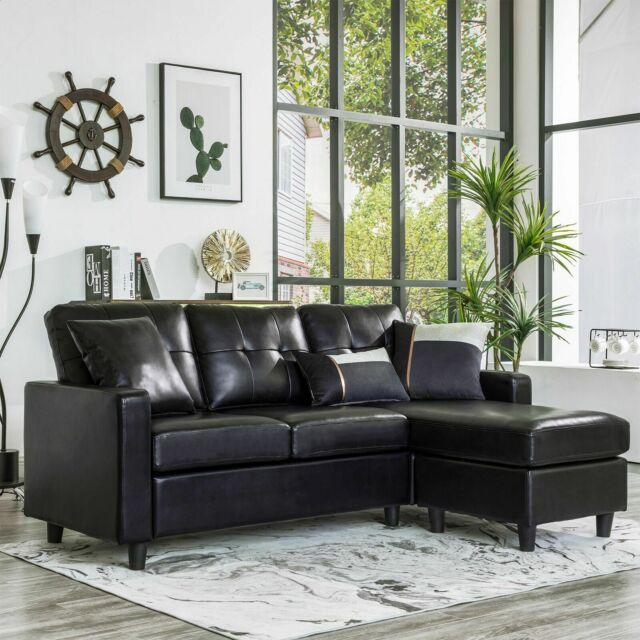 Tufted Leather Chesterfield L Shape