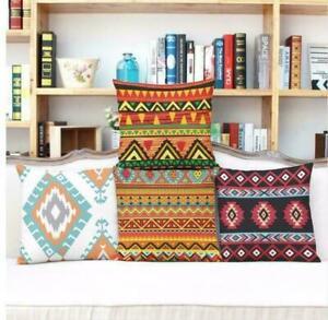 Totem-Pattern-Pillow-Case-Waist-Cover-Home-Decor-Cushion-Cover-Cotton-Linen