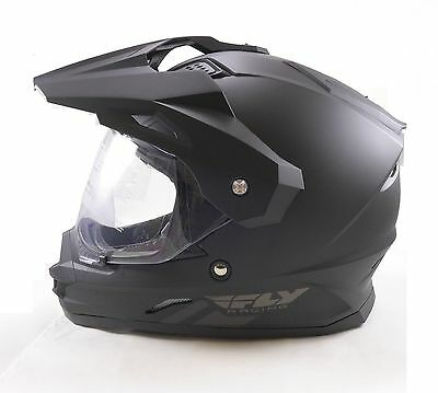 2015 Fly Racing Matte Black Trekker Helmet Looks Like Helmet From Halo