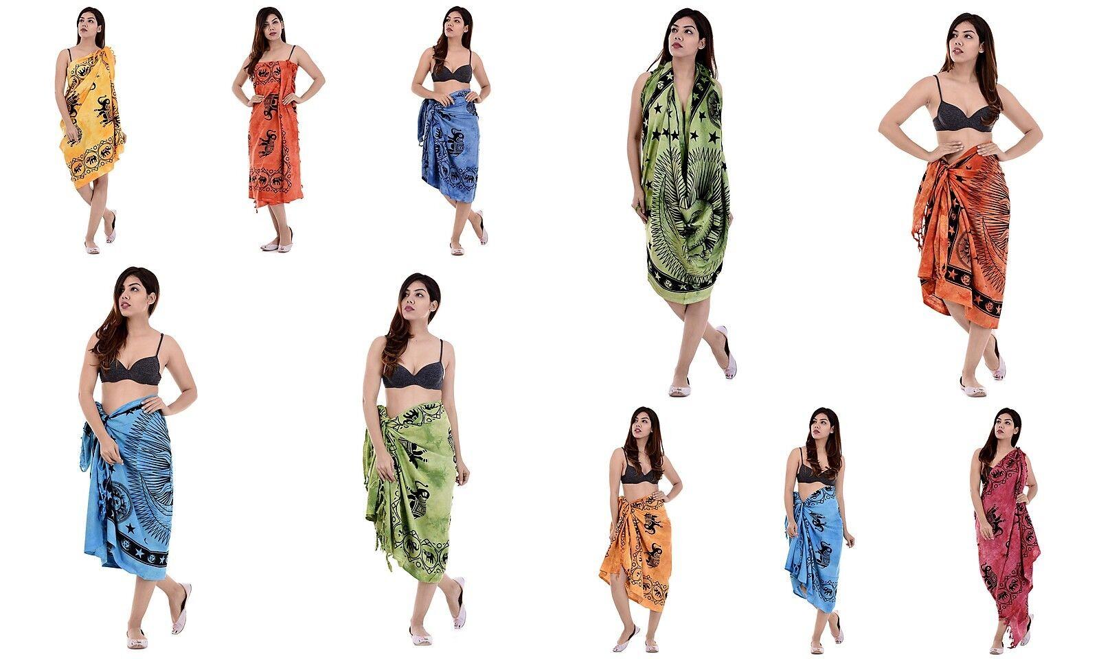 5 PC Wholesale Lot Mandala Beach Cover Up Kaftan Sarong Summer Indian Pareo Boho