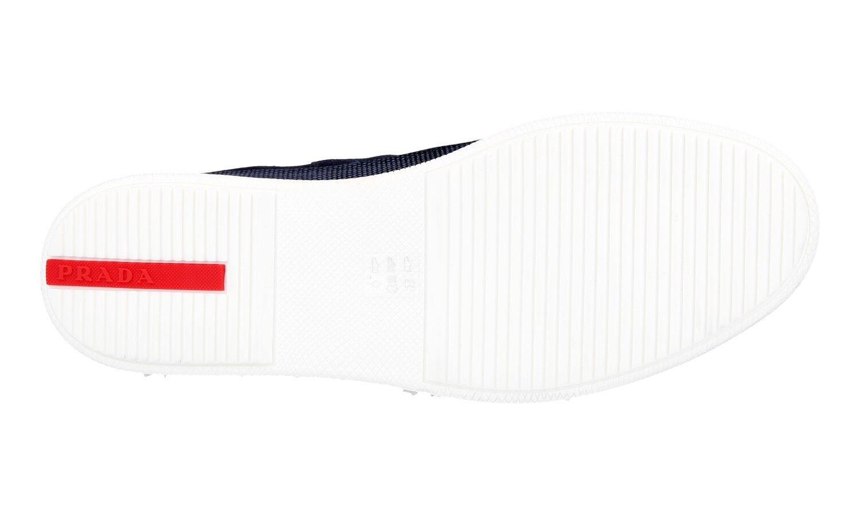 quality design be6f1 56dde ... Auth LUXURY PRADA PRADA PRADA Half-Boot Scarpe in pelle scamosciata blu  4T3154 NUOVO 10 ...
