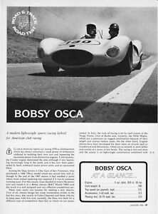 1964 Bobsy Osca Racer Road Test Technical Data Review Print Article
