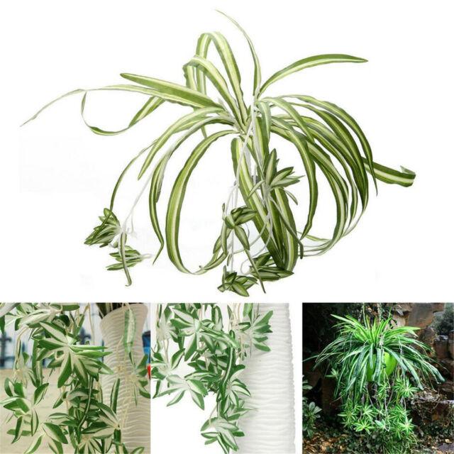 New Artificial Silk Spider Plant Chlorophytum Comosum Greenery Garden Home Decor