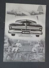 Original 1941 Print Ad DE SOTO Auto WWII Products of Chrysler Planes Tanks