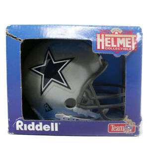 New-VTG-1995-Dallas-Cowboys-NFL-Riddell-Mini-Speed-Helmet-Silver-Navy-Blue