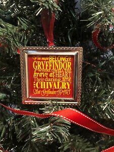 "Harry Potter Ravenclaw crest Square Silver 3/"" Metal Ornament"