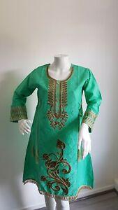 Ladies Asian Pakistani Indian Kurta Kurti High Quality Embroidery Cotton 2020