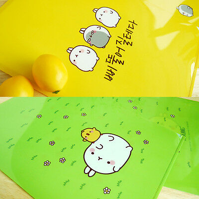 Molang A4 Paper Clear File Folder, Office Documents File Cover