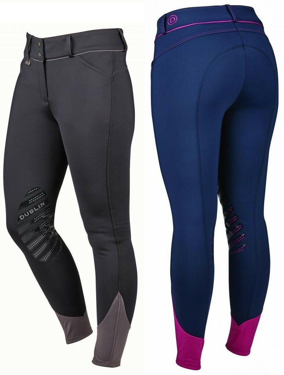 Dublin Thermal Gel Knee WARM & WATER RESISTANT HORSE RIDING BREECHES Ladies ALL