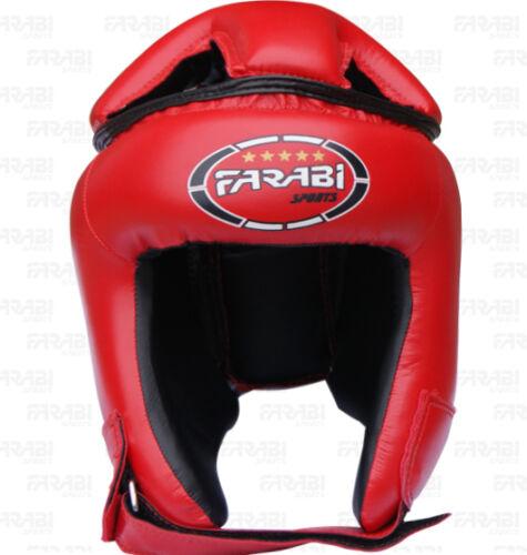 Farabi Real Leather Boxing Head Guard  Mma Face Protector Martial Arts Helmet