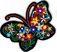 FLOWER BUTTERFLY - BIKER - WOODSTOCK - LOVE - PEACE - SUMMER - Iron On Patch