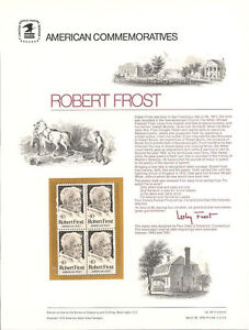 28-10c-Robert-Frost-Poet-1526-USPS-Commemorative-Stamp-Panel