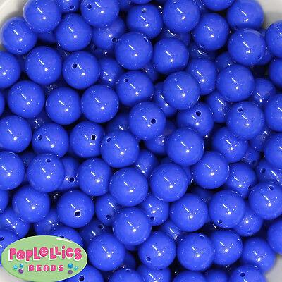 20mm Royal Blue mixed Styles Acrylic Chunky Bubblegum Beads Lot 20 pc.