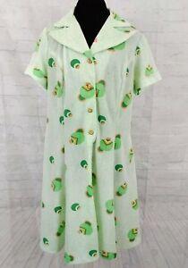Details about Vintage 1960s MCM Secretary Shirt Dress Plus size 1X Lime  Green Poly Stretch