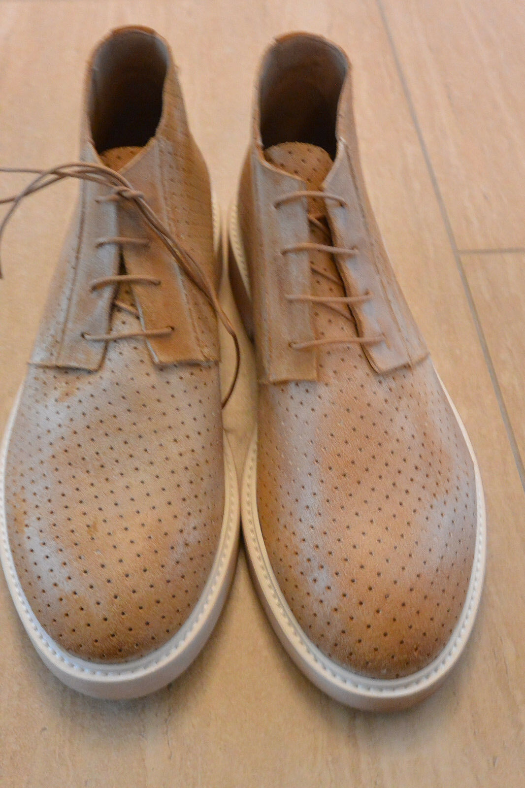 NEW Donald J Pliner  Uomo Giaco Leder Lace Up Größe Chukka Stiefel in Saddle Größe Up 8 a76fec