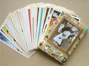 Lot-of-32-Vintage-Postcards-Advertising-Album-Poster-Old-Greeting-Post-Cards