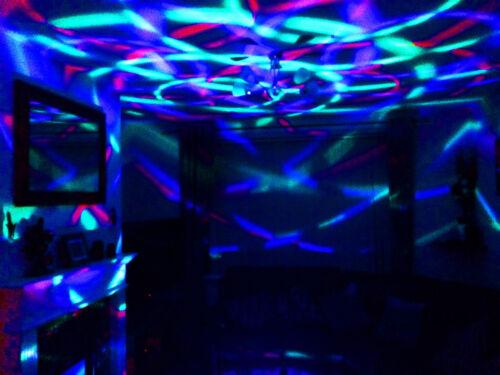 Rotating Disco Ball Battery or Bayonet Cap Crystal Effect LED Light Bulb Lamp