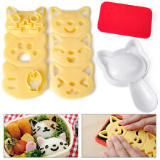 New 4Pcs/Set Kawaii Cat Rice Ball Mold Sushi Egg Chocolate Mold DIY Kitchen Tool