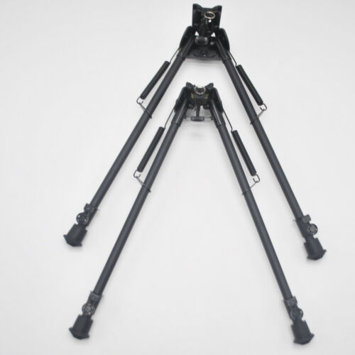 New 13-21/'/' Harris Bipod With Posi-lock Quick Retraction Button W// Adapter Black