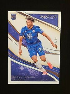 2020 Panini Immaculate Soccer Reece James ROOKIE CARD #34 SP RC #/99 CHELSEA