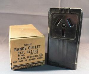 Vintage General Electric Ge3000 Range Outlet W Box Ebay