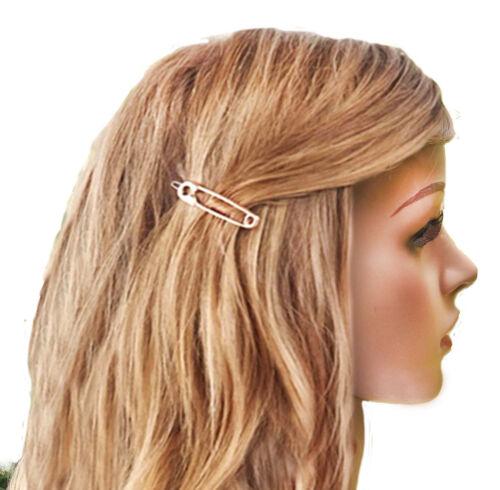 2 Stück Haarklammer SET Gold oder Silber Sicherheitsnadel Haarspange Haarnadeln