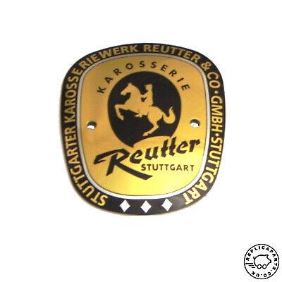 Porsche 356 A Speedster Reutter Badge for European models Replaces 64472300301