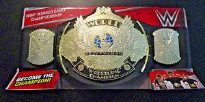 WWE WWF WINGED EAGLE CHAMPIONSHIP WORLD HEAVYWEIGHT BELT BLACK STRAP 2017