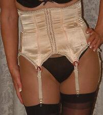 Vintage nude waist cincher corset with garters size M