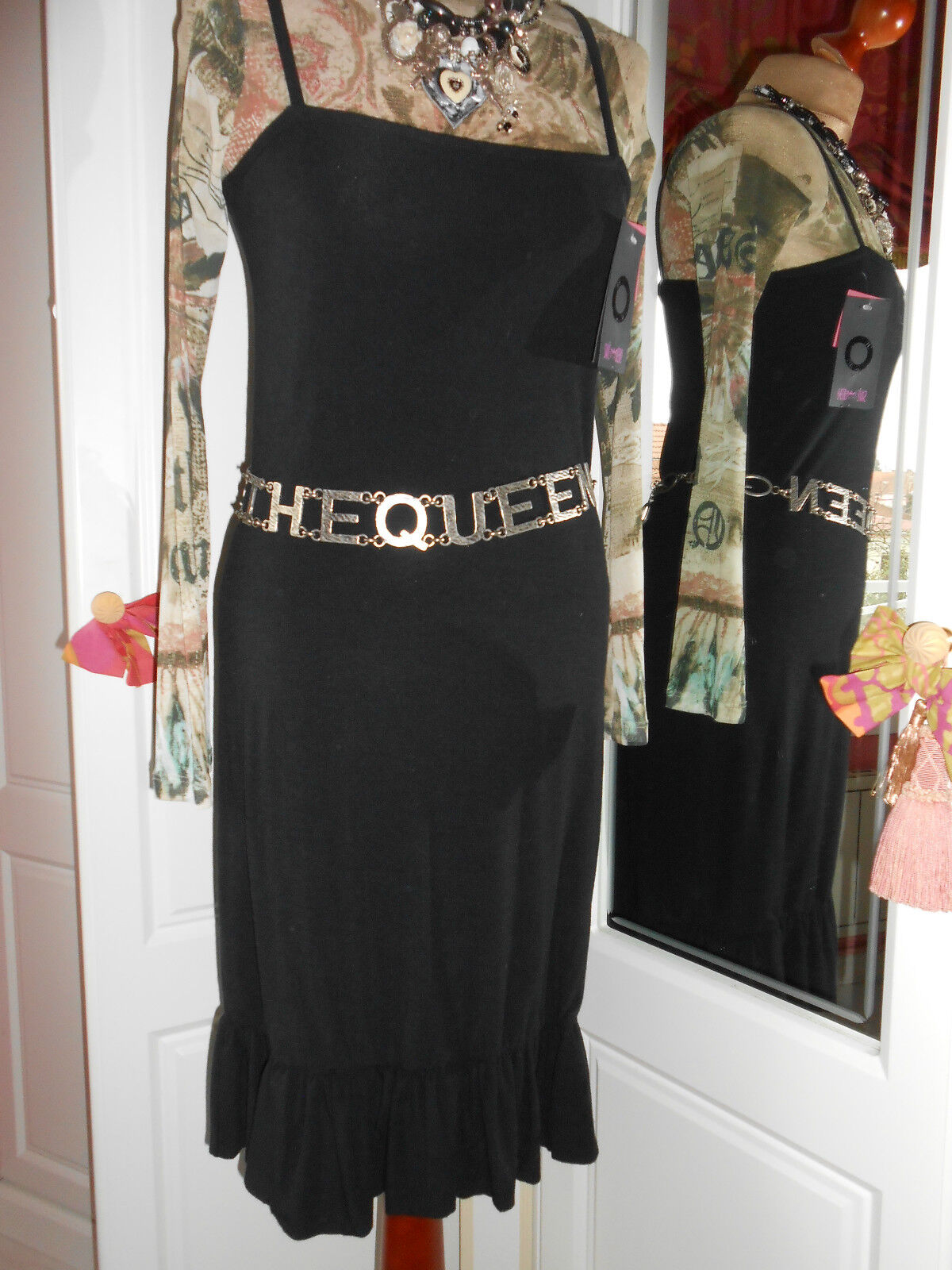 -  SUPERBE ROBE SAVE THE THE THE QUEEN DOUBLEE  blackE IMTEMPOREL T   XL NEUVE db5496