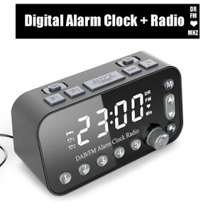 Mini-Tragbare-LED-Radiowecker-Digital-Wecker-Pocket-Display-DAB-Wecker-FM-Radio