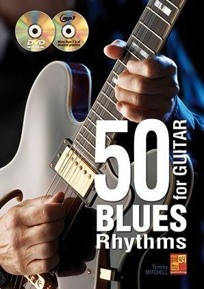 50 Blues Rhythms For Guitar Learn to Play MUSIC BOOK Lesson Tutorial /& CD//DVD