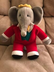 King Babar Elephant Plush Gund Toy 15 Plush Stuffed Animal 1988