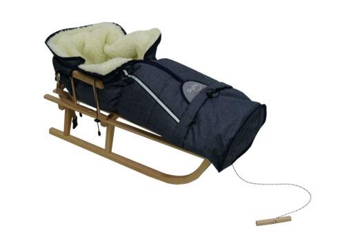 Rückenlehne,Winterfußsack. Kinderschlitten Klassische Holzschlitten Schlitten