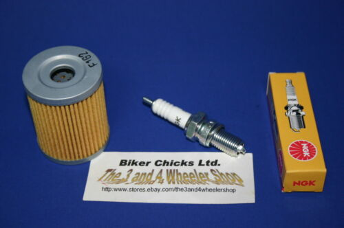 SUZUKI 1986 LT250 EF Tune Up Kit NGK Spark Plug /& Oil Filter