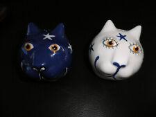 Set Salzstreuer//Pfefferstreuer KATZE weiß Keramik Pluto Produkter Sweden Cat