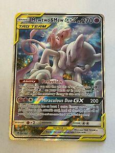 Near Mint Ultra Rare Mewtwo /& Mew GX SM191 Holo Promo Full Art Pokemon Card