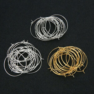 50PCS-Charm-Beading-Hoop-Loop-Earring-Ear-Wire-Big-Circle-For-DIY-Jewelry-Making