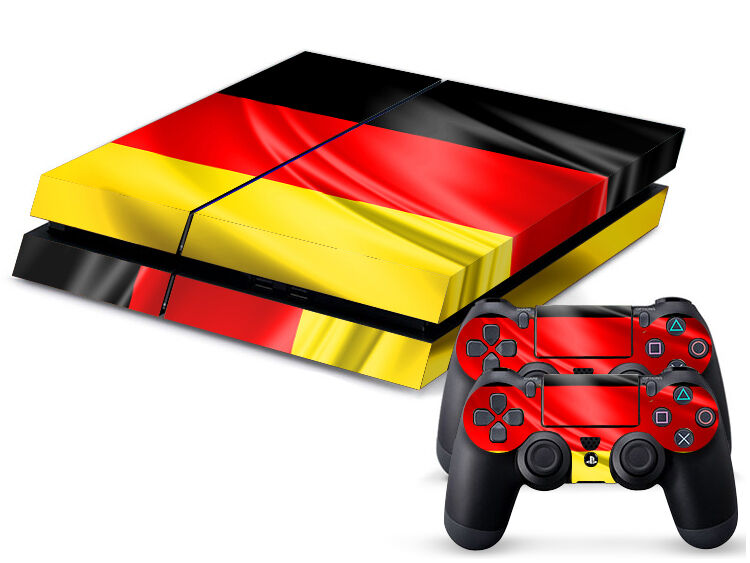 Sony PS4 PLAYSTATION 4 Skin Design Sticker Screen Protector Set - Germany 3