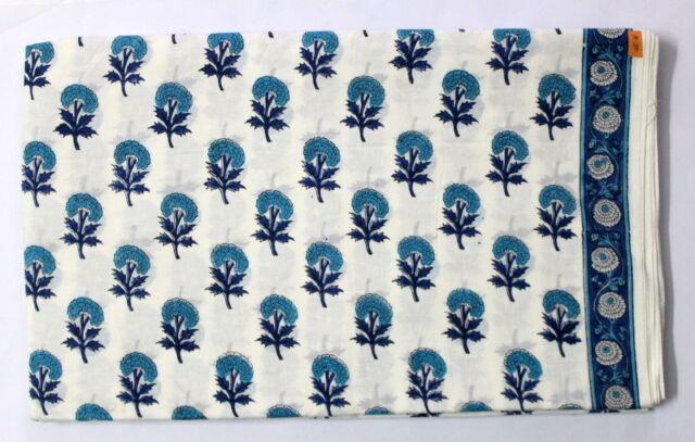 100% Cotton Hand Block Print Dabu Natural Running Handmade Indian Fabric