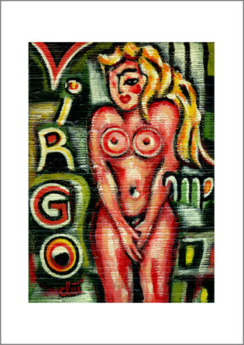 JACQUELINE DITT Virgo A4 DRUCK n.Gemälde Jungfrau Sternzeichen