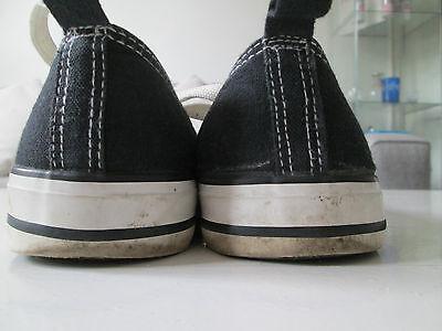 Atmósfera-Negro Textil Con Cordones Zapatillas Zapatos Talla 6