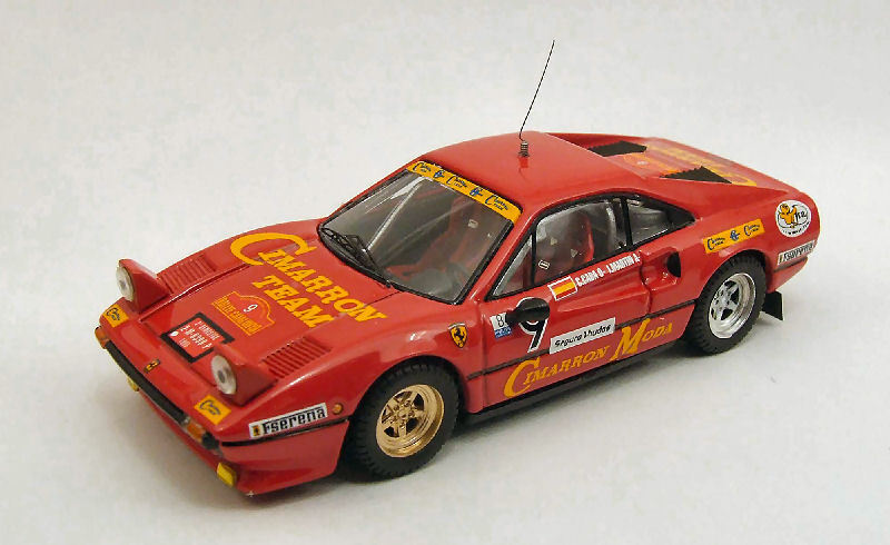 Ferrari 308 GTB  9 accident Catalunya 1985 C.  studieuse J. MARTIN 1 43 MODEL  service honnête