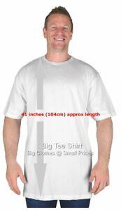 3ea57c89 Large Mens White Extra Tall T Shirt/Nightshirt L XL 2XL 3XL 4XL 5XL ...