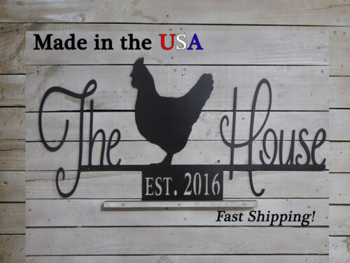 S1192 Chicken Coop Hen House Sign Established Date The Chicken House Sign
