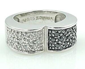 Nouveau Argent Sterling Diamant Pave .925 Anneau Taille 5