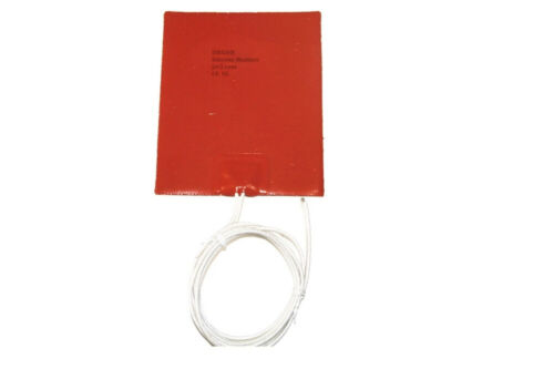 "4/"" X 6/"" 100 X 150mm 25W NO 3M adhesive Heating Pad JSRGO  Silicone Heater"