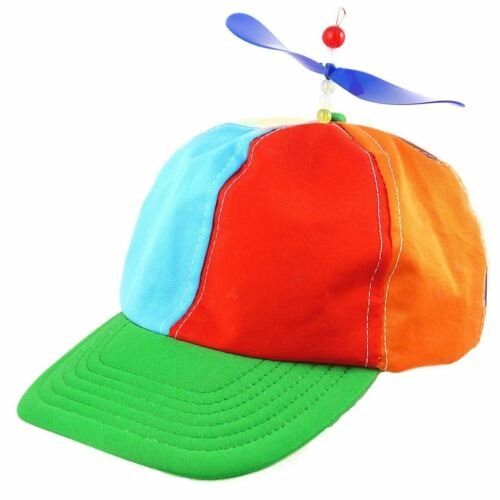 Propeller Cap Hat Helicopter Rainbow Tweedle Dee Dum Pride Fancy Dress Nerd Spin