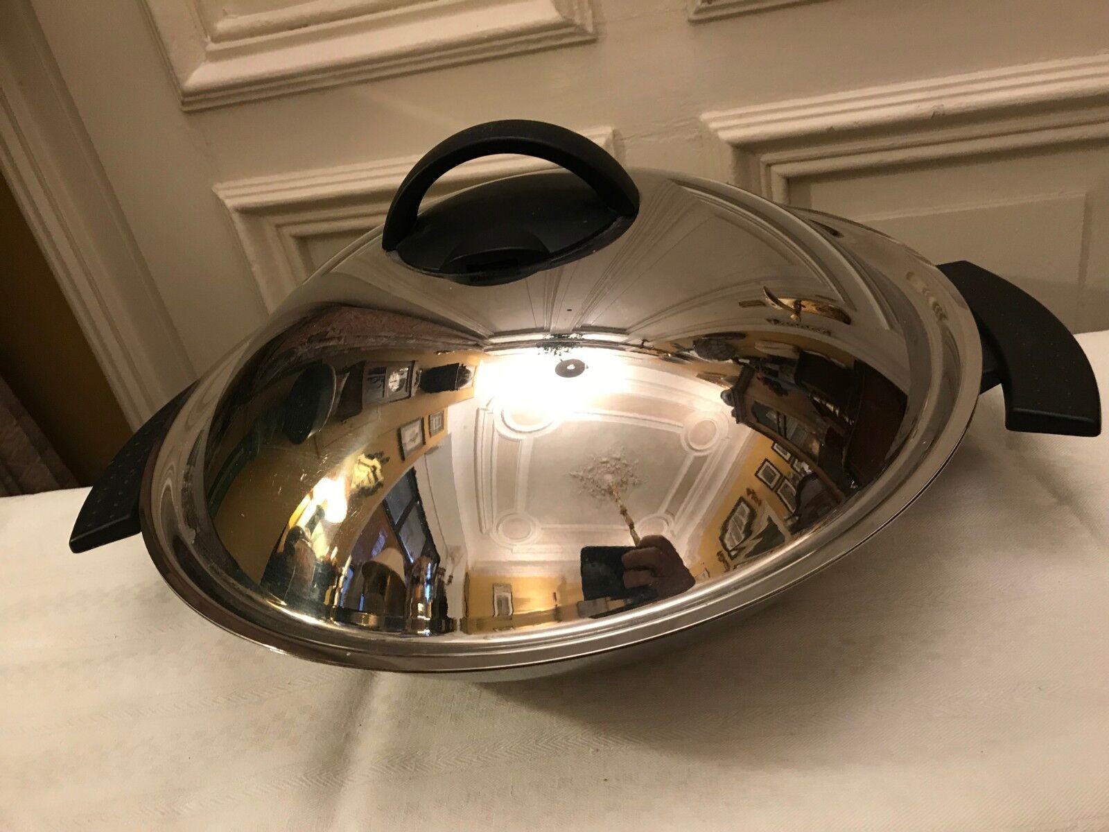 Gigante vitavit Brat - holandés wok ca 38cm de ancho 9 alta (sólo olla) 18 10